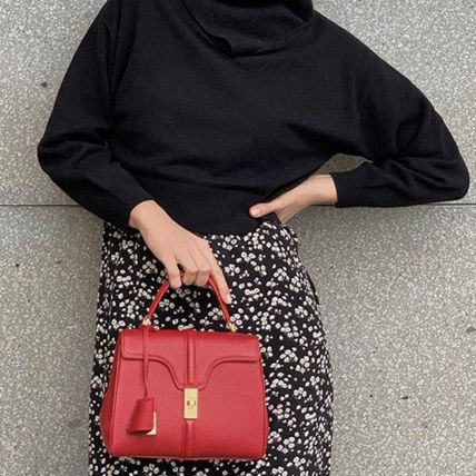CELINE☆ 16 Bag Small Grained Leather
