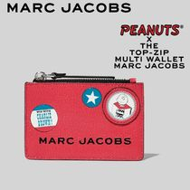 MARC JACOBS X PEANUTS THE BOX TOP ZIP MULTI WALLET