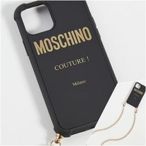 Moschino/チェーン付き ロゴiPhone 11 Proケース/関税送料込
