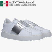 VALENTINO GARAVANI OPEN SMOOTH LEATHER SNEAKERS