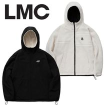 LMC★LMC BOA FLEECE REVERSIBLE HOODED JACKET cream/black