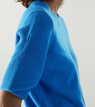 """COS(コス) ニット・セーター """"COS""""ORGANICCOTTON-WOOL MIX TWISTED SLEEVE KNITTEDTOP BLUE"""