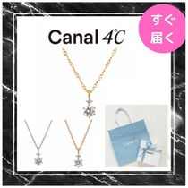 【canal 4℃】2粒ストーンネックレス