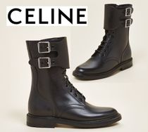 [関税・送料込] CELINE☆Black Ranger Lace-Up Leather Boots