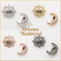 新作★vivienne westwood★SUN AND MOONオーブロゴピアス