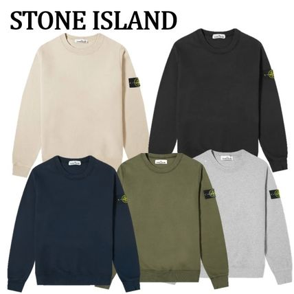 人気☆【送関込】STONE ISLAND GARMENT DYED CREW SWEAT 5色