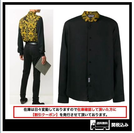 300【Versace Jeans Couture】 バロック柄プリント シャツ