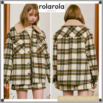 日本未入荷ROLAROLAのBOUCLE COLLAR CHECK SHIRT JACKET