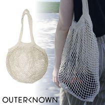 Outer known(アウターノウン) トートバッグ Outer Known☆オーガニックコットン ショッピングバック