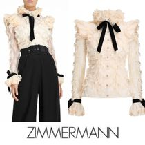 2020AWランウェイ【Zimmermann】LUCKY LACE HANDKERCHIEF BLOUSE