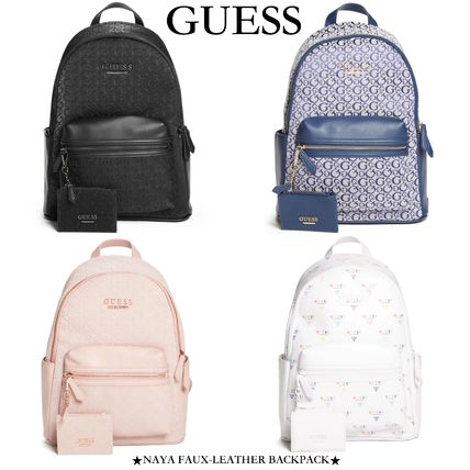 【GUESS/ゲス】NAYA FAUX-LEATHER BACKPACK コインポーチ