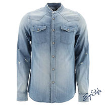 BALMAIN DENIM SHIRT WITH LOGO