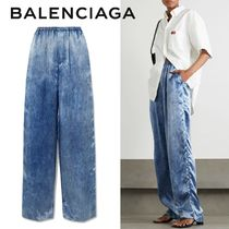 ∞∞ BALENCIAGA ∞∞ Printed satin wide-leg パンツ☆
