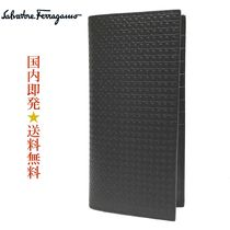 Salvatore Ferragamo 66-A511 0714568 NERO PEBBLE長財布 (新品)
