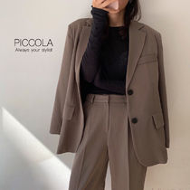 ■PICCOLA■【3COLOR】秋色シングルジャケットセットアップ