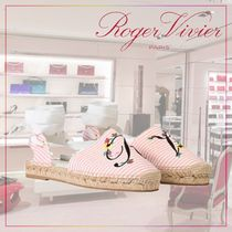 【Roger Vivier】18SS Espadrilles Lace Up Blooming RV
