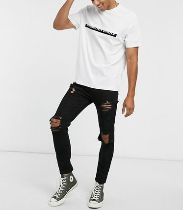 American Eagle Outfitters Tシャツ・カットソー ★American Eagle★全2色コントラスト ロゴTシャツ 関税送料込(8)