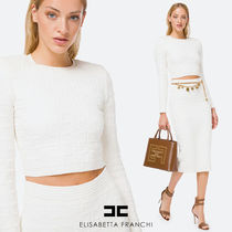 【ELISABETTA FRANCHI】FW20-21 Two-piece with long sleeves