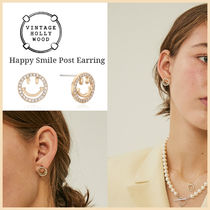 Vintage hollywood★韓国アイドル着用 Happy Smile Post Earring