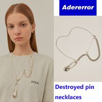 【ADERERROR】Destroyed pin necklaces