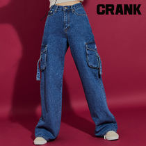 ★CRANK★DENIM CARGO WIDE PANTS_BL★正規品★韓国直送料込
