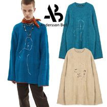 ★ANDERSSON BELL★UNISEX OVERSIZED EMBROIDERY SWEATER 2色