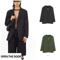 無料EMS配送★OPEN THE DOOR★nylon matte jacket (3 color)