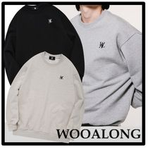 ★関税込★WOOALONG★Signature embroidered overfit sweatshirt