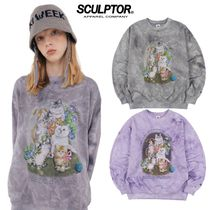 ●SCULPTOR● 20F/W Kitten Friends Tie-Dye Sweatshirt 3色