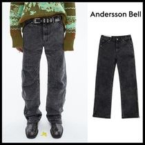 ☆ANDERSSON BELL☆ BLEACH WASHED ZIPPER JEANS