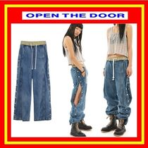 [OPEN THE DOOR]  side button denim pants  /追跡付