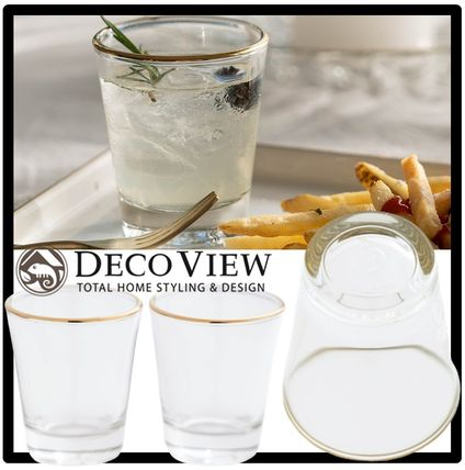 DECO VIEW コップ・グラス 関税込★DECO VIEW★Gold Line Small Cup(50ml)★2Pセット