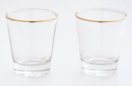 DECO VIEW コップ・グラス 関税込★DECO VIEW★Gold Line Small Cup(50ml)★2Pセット(15)