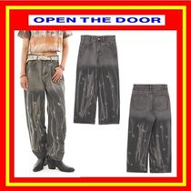 [OPEN THE DOOR] analogue wide denim pants  /追跡付