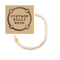 VINTAGE HOLLYWOOD☆Smile Pearl Necklace