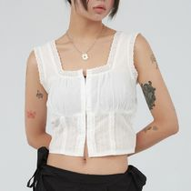 ★RAUCOHOUSE★ 日本未入荷 punching lace sleeveless blouse