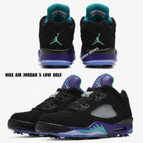 NIKE★JORDAN 5 LOW GOLF★BLACK/NEW EMERALD/GRAPE ICE