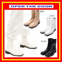[OPEN THE DOOR] front square ankle boots (3 color) /追跡付
