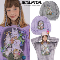 SCULPTOR★日本未入荷 韓国 Kitten Friends Tie-Dye Sweatshirt