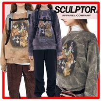 ☆韓国の人気☆SCULPTOR☆Puppy Friends Tie-Dye Sweatshirt 3色