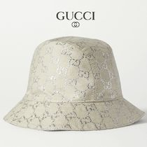 ∞∞ GUCCI ∞∞ GG metallic bucket ハット☆
