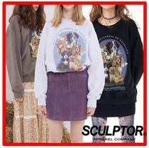 ☆韓国の人気☆SCULPTOR☆ Puppy Friends Sweatshirt ☆3色☆