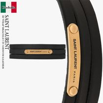 SAINT LAURENT ID WRAP BRACELET IN SMOOTH LEATHER