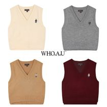 ●WHO.A.U● 20F/W Semi Crop Vest 4色