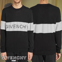 GIVENCHY☆TRANSPARENT BAND LOGO CREW KNIT ニット ロゴ
