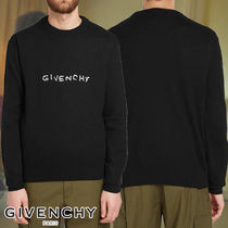 GIVENCHY☆EMBROIDERED LOGO CREW KNIT ニット ロゴ シンプル