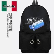 OFF WHITE  Pascal Medicine nylon backpack