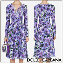 Dolce & Gabbana☆Crossover midi dressクレープデシン☆送料込