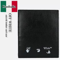 OFF WHITE  smooth leather card case
