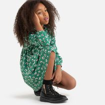 La Redoute★Floral Print Dress with Long Sleeves 3-12歳